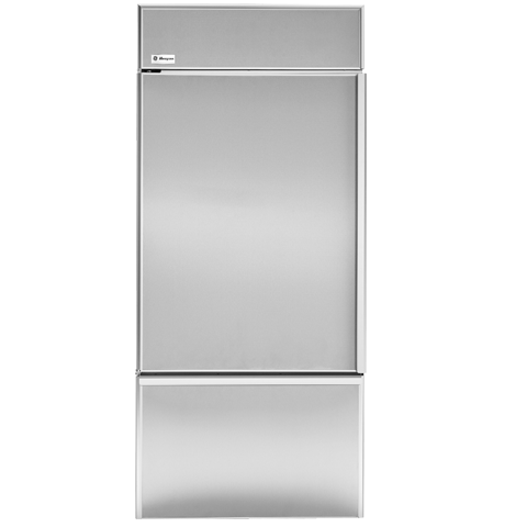 "Model: ZIC360NHLH | Monogram Monogram 36"" Built-In Bottom-Freezer Refrigerator"