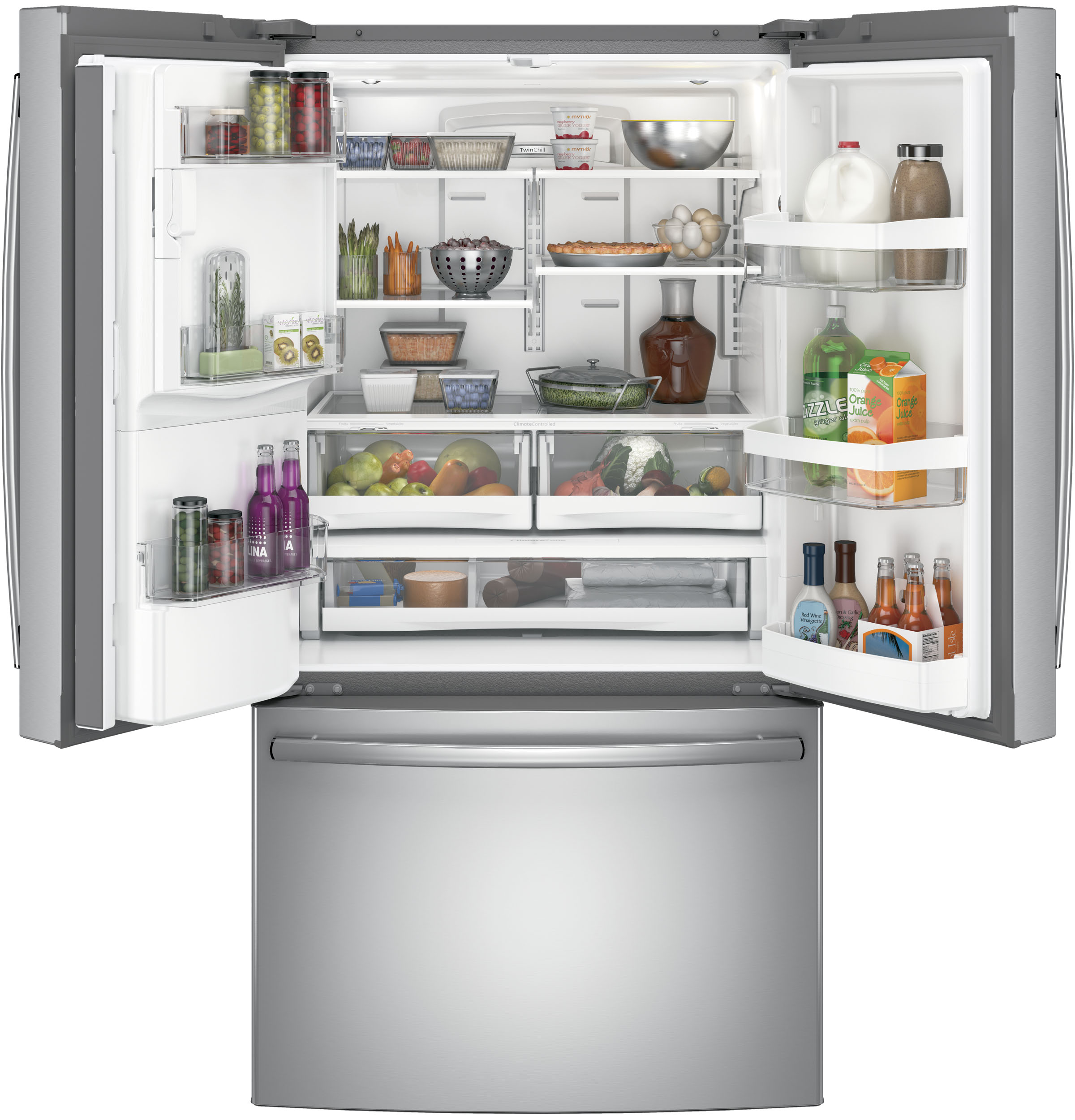 Model: GFS26GSNSS | GE® 25.8 Cu. Ft. French-Door Refrigerator