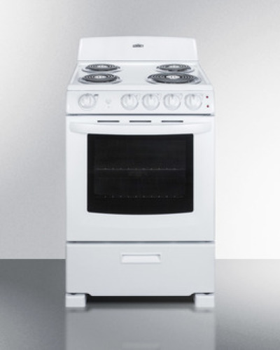 "Summit 24"" Electric Coil Range- White"