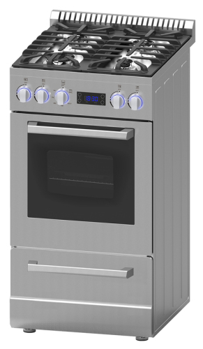 "Model: DGR20P3S | Avanti 20"" Deluxe Gas Range - Elite Series"