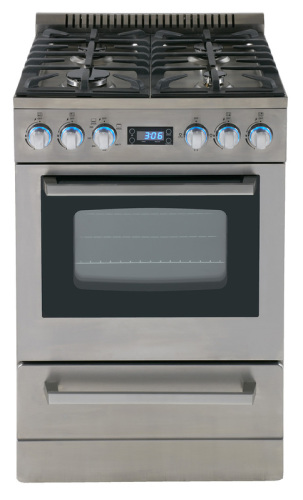 "Model: DGR24P3S | Avanti 24"" Deluxe Gas Range - Elite Series"