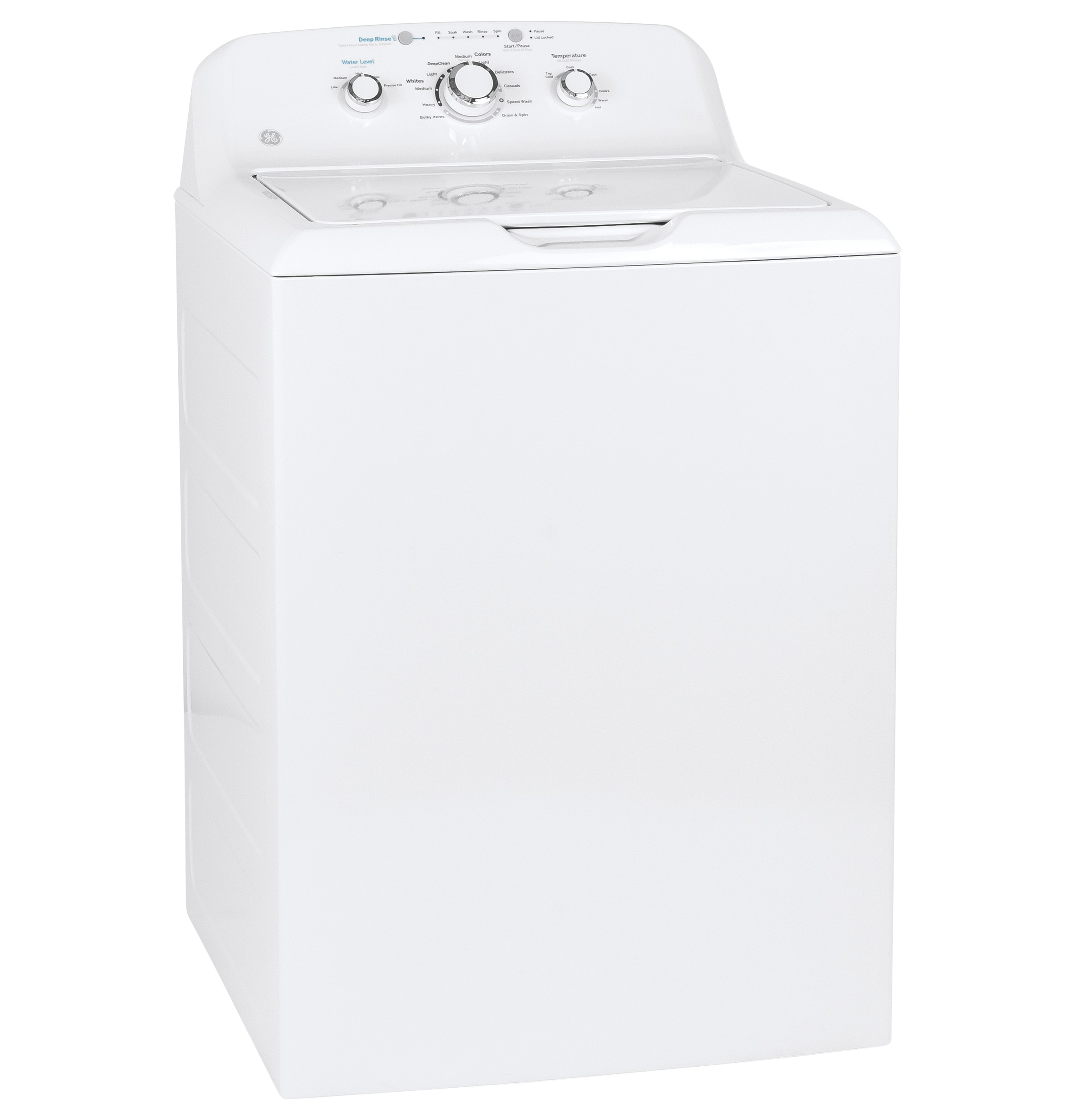 Model: GTW335ASNWW | GE® 4.2 cu. ft. Capacity Washer with Stainless Steel Basket