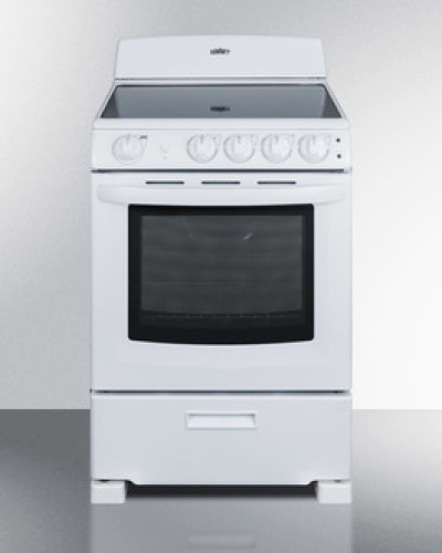 24' wide smoothtop electric range