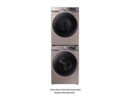 Model: DVE45R6100C | Samsung Front Load Electric Dryer with Steam Sanitize+