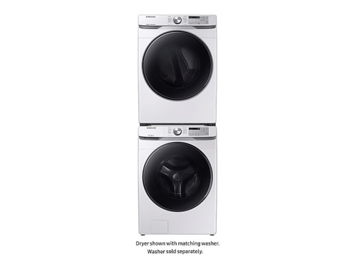 Model: DVE45R6100W | Samsung Samsung Front Load Electric Dryer with Steam Sanitize+  7.5 cu ft Capacity