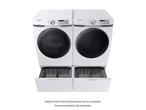 Model: WF45R6100AW | Samsung 4.5 cu. ft. Front Load Washer with Steam
