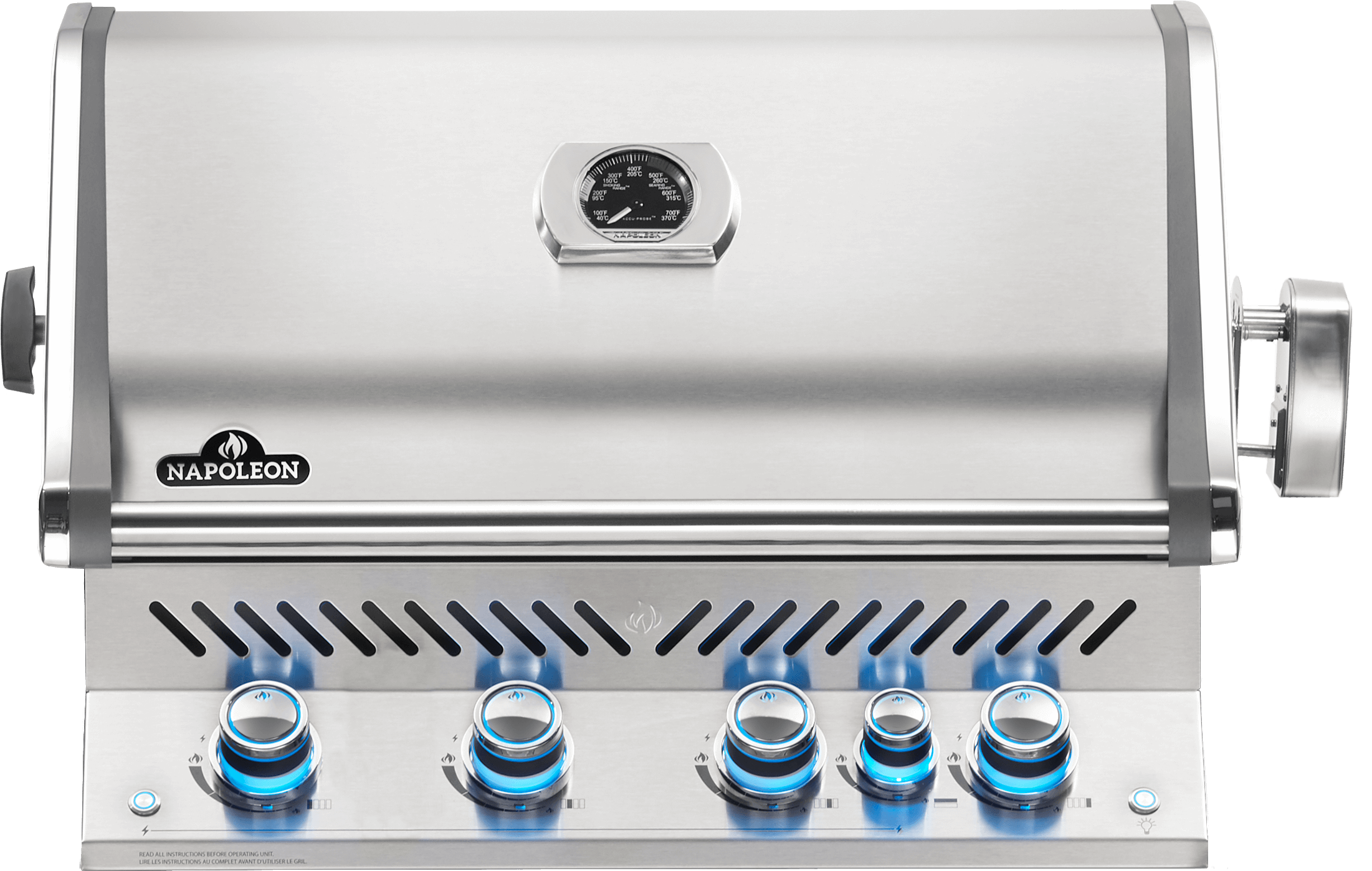 Built-in Prestige PRO™ 500 Natural Gas Grill Head with Infrared Rear Burner, Stainless Steel