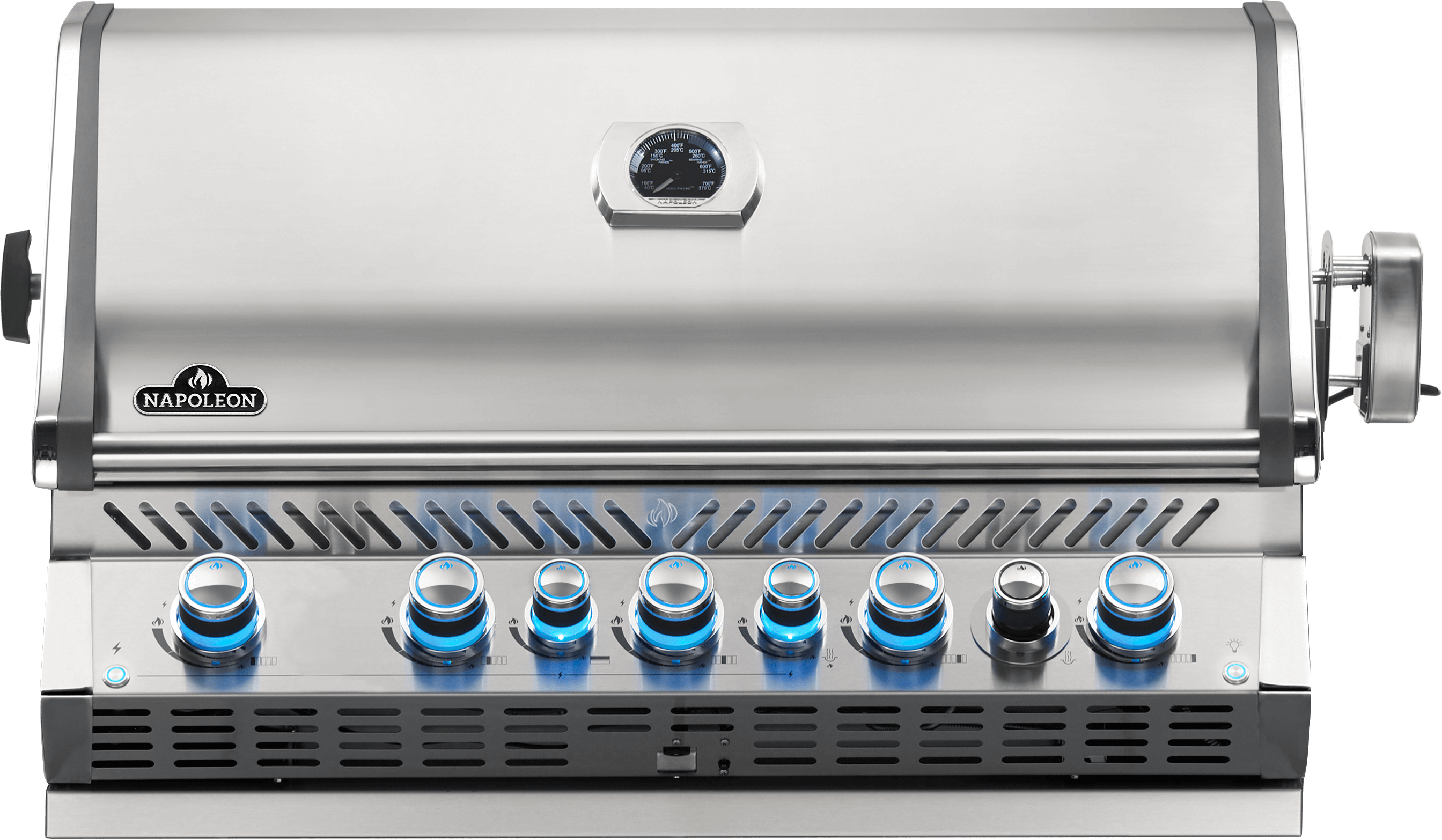 Built-in Prestige PRO™ 665 Natural Gas Grill Head with Infrared Rear Burner, Stainless Steel