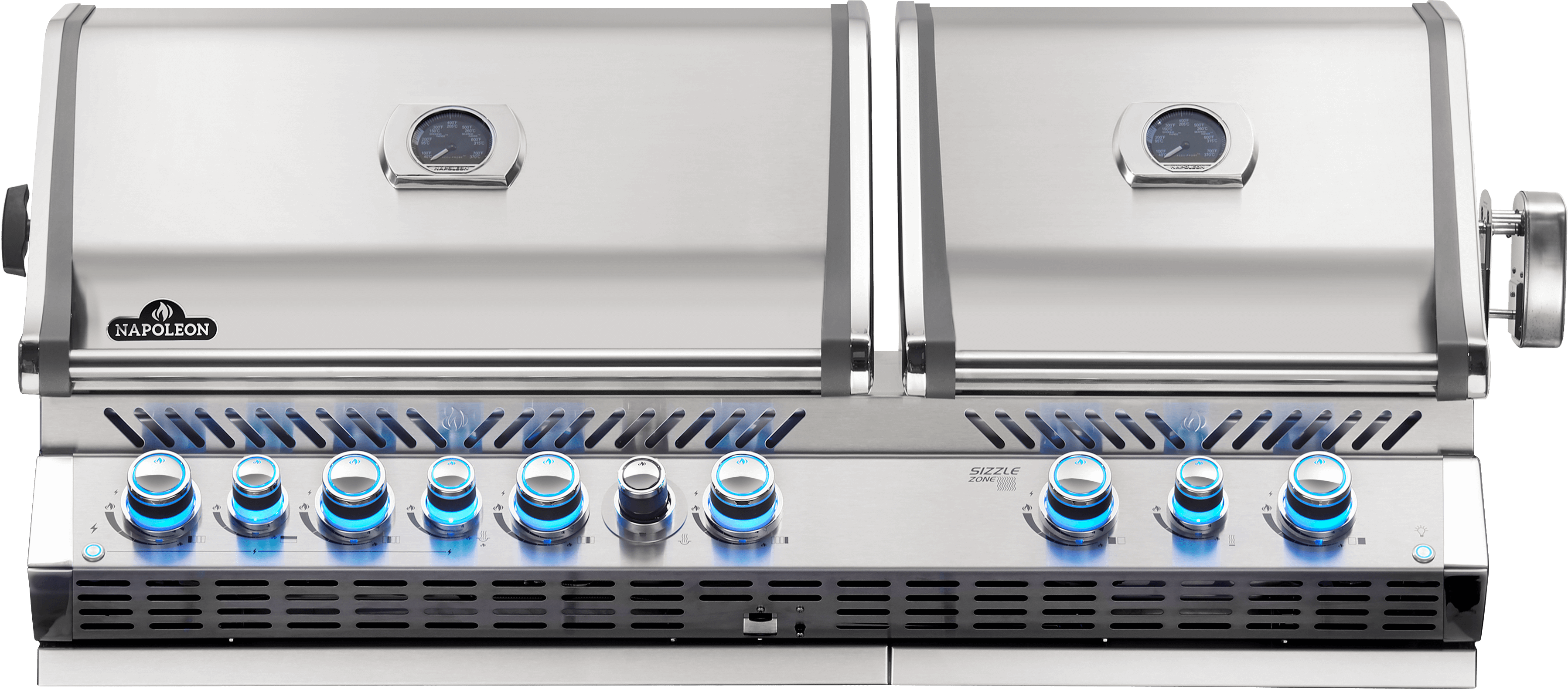 Napoleon Built-in Prestige PRO™ 825 Propane Gas Grill Head with Infrared Bottom and Rear Burner, Stainless Steel