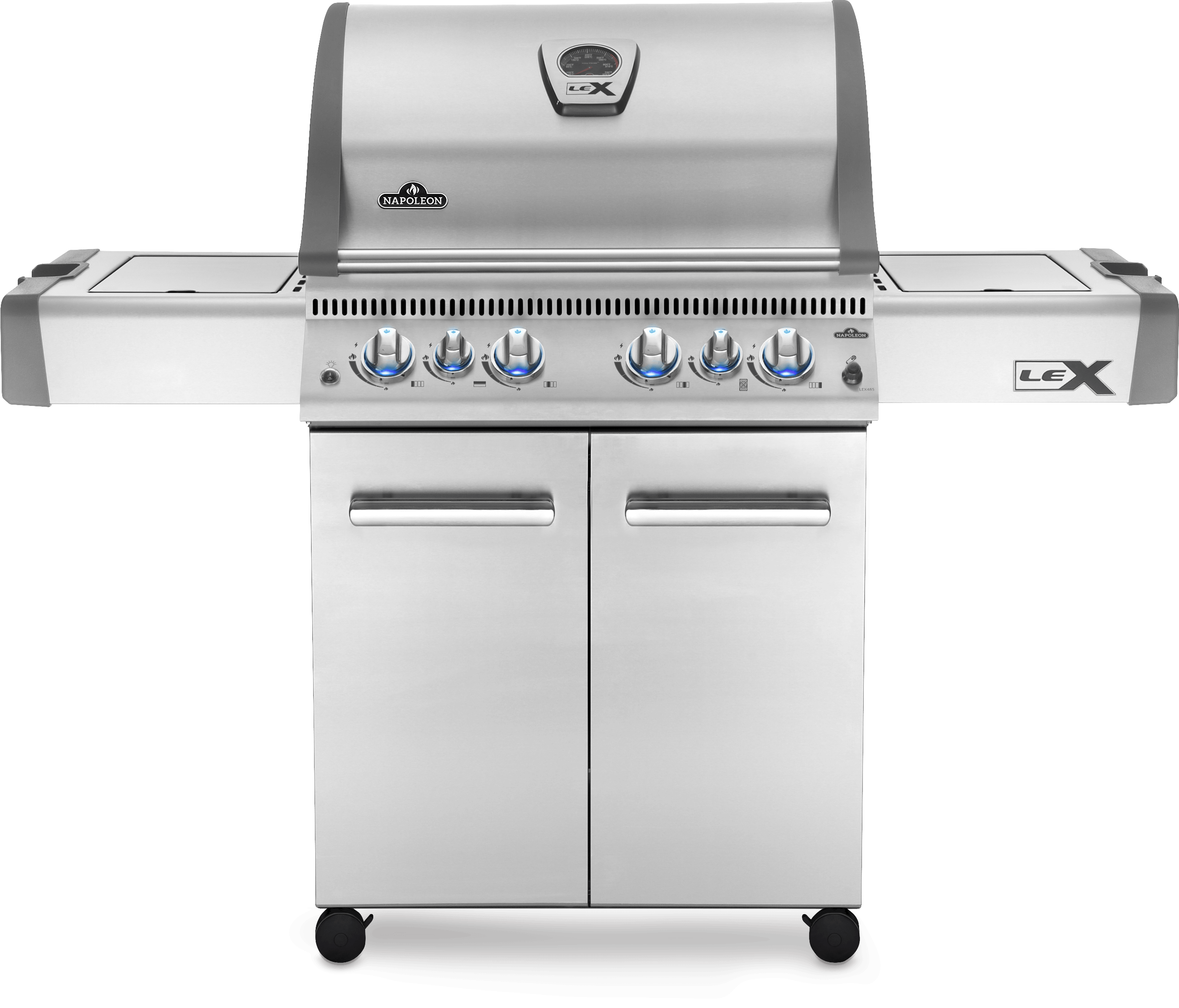 Napoleon LEX 485 Natural Gas Grill with Infrared Side and Rear Burners, Stainless Steel
