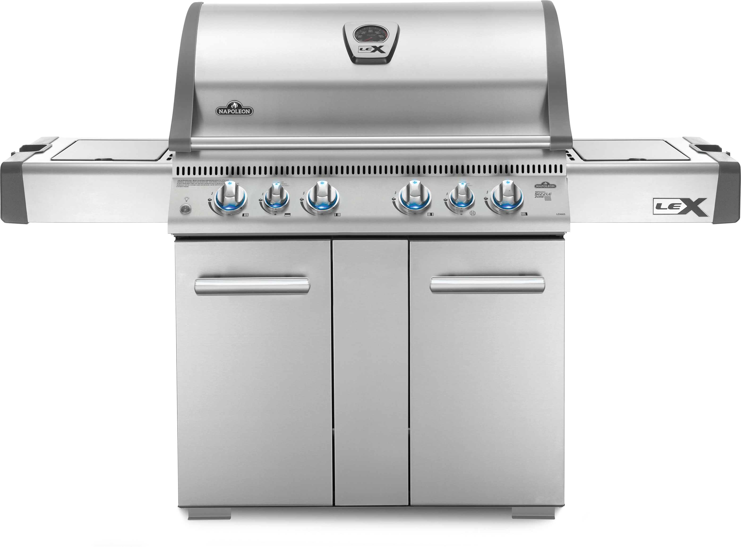 Model: LEX605RSBINSS | Napoleon LEX 605 Natural Gas Grill with Side Burner and Infrared Bottom & Rear Burners, Stainless Steel