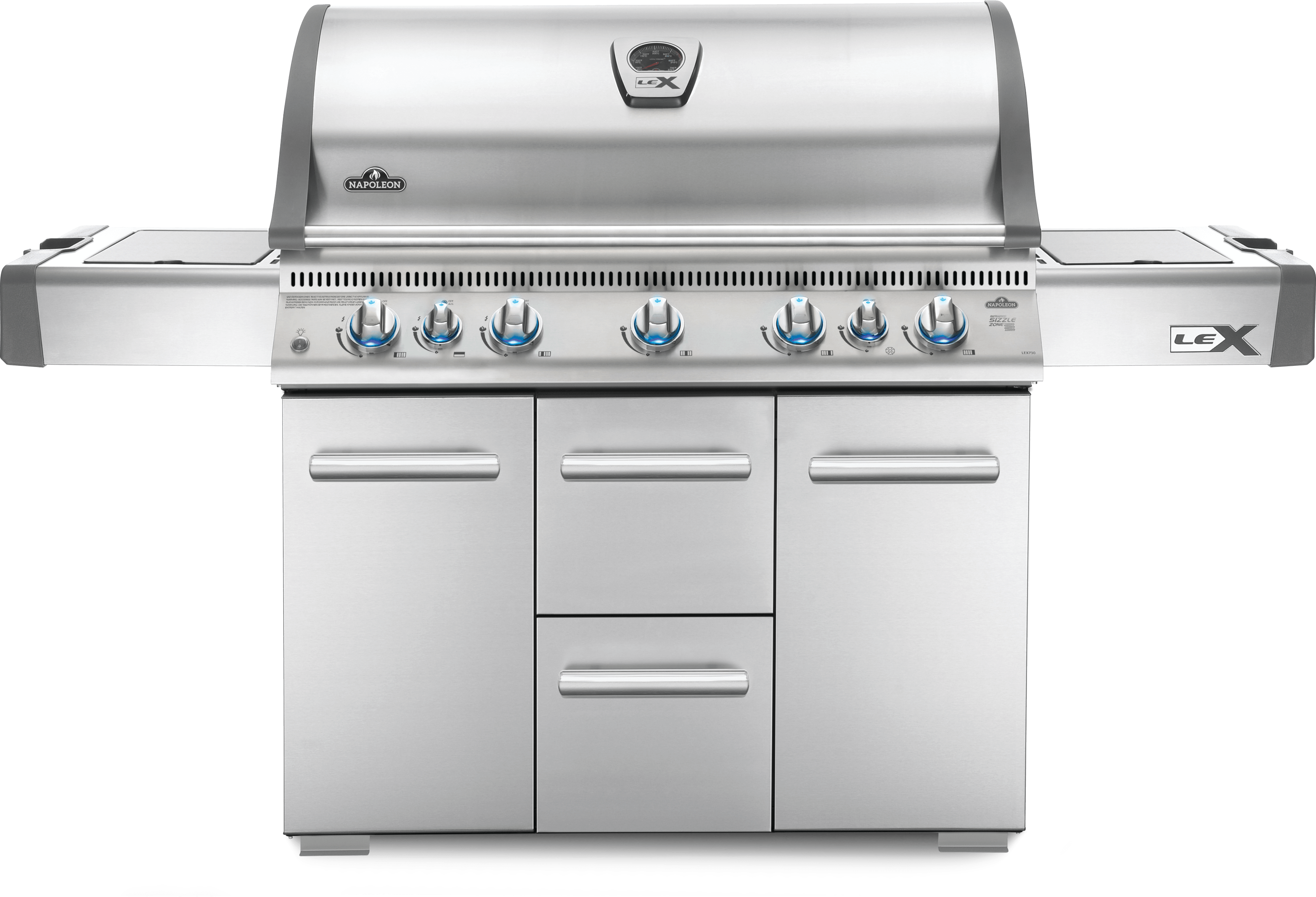 Napoleon LEX 730 Natural Gas Grill with Side Burner and Infrared Bottom & Rear Burners, Stainless Steel