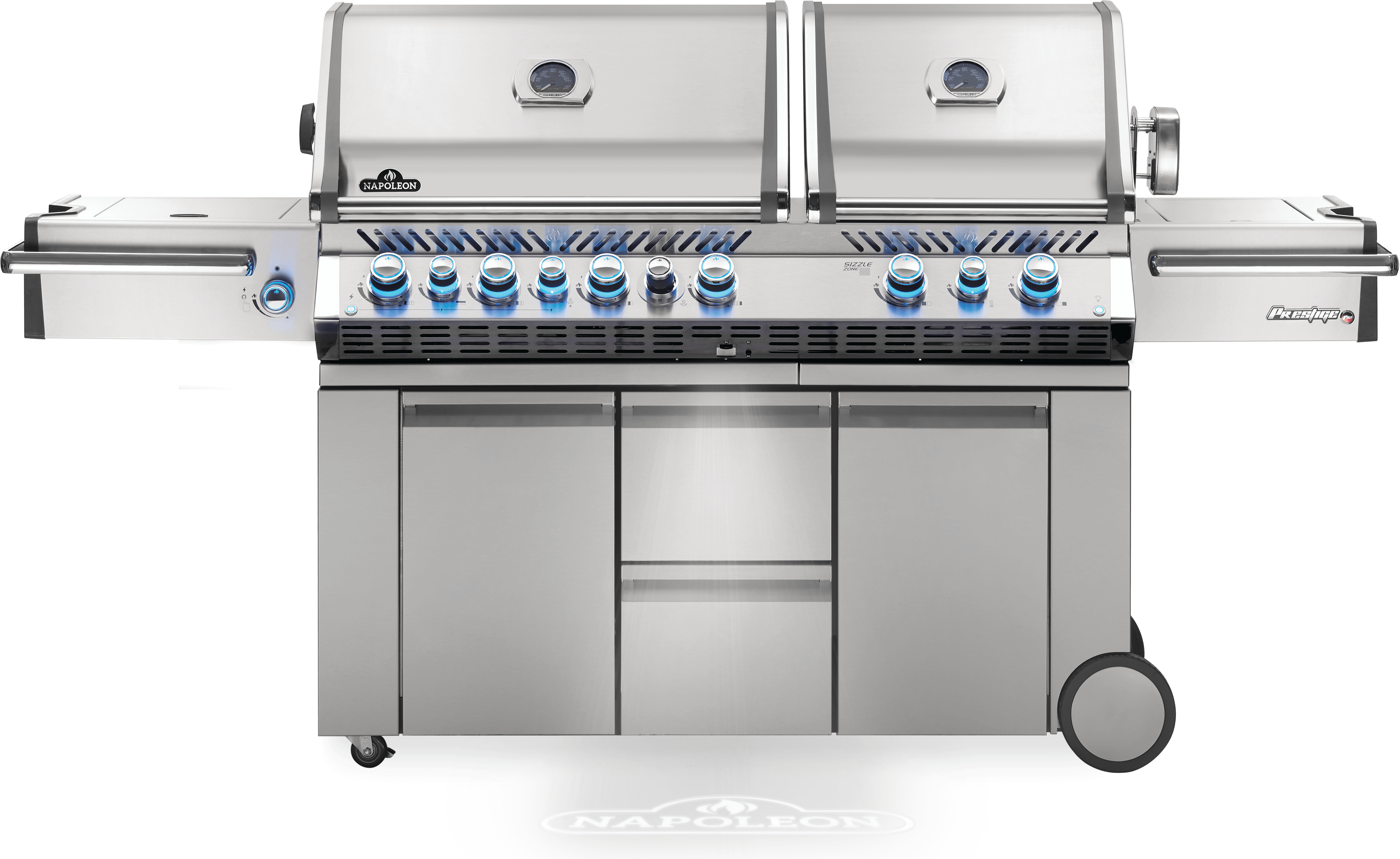Prestige PRO™ 825 Natural Gas Grill with Power Side Burner and Infrared Rear & Bottom Burners, Stainless Steel