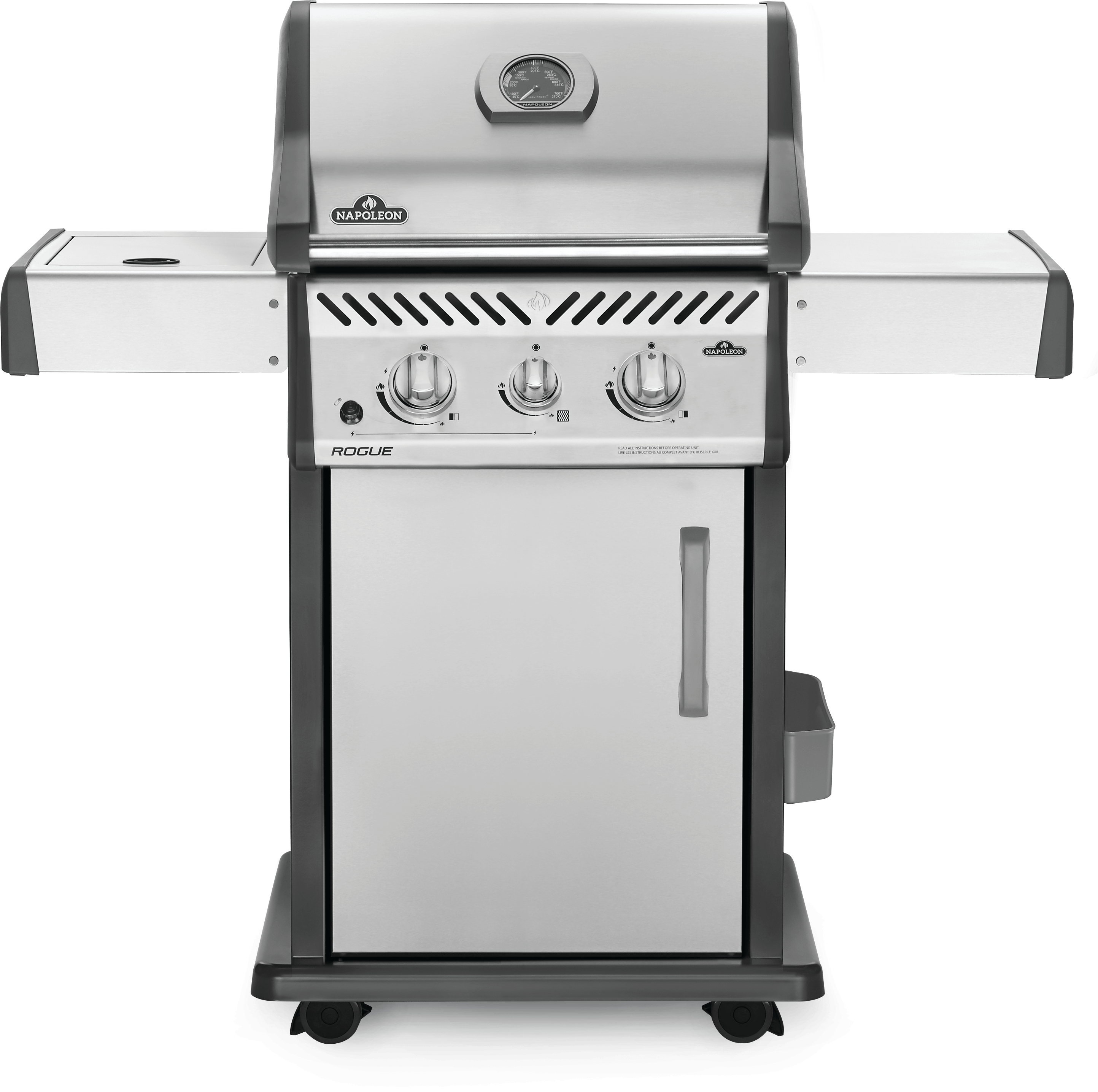 Napoleon Rogue® 365 Propane Gas Grill with Infrared Side Burner, Stainless Steel