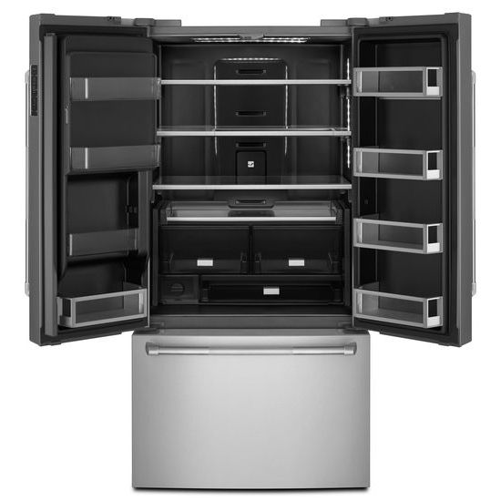 "Model: JFFCC72EFP | Pro-Style® 72"" Counter-Depth French Door Refrigerator with Obsidian Interior"