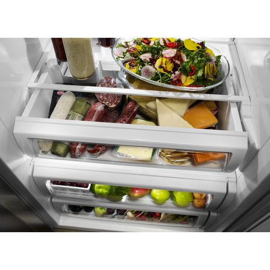 Model: KBSD608ESS | 29.5 cu. ft 48-Inch Width Built-In Side by Side Refrigerator with PrintShield™ Finish