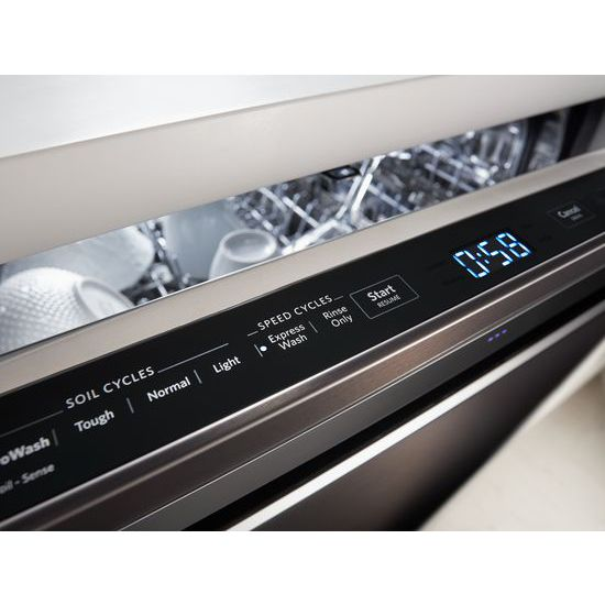 Model: KDPE334GBS | 39 DBA Dishwasher with Fan-Enabled ProDry™ System and PrintShield™ Finish, Pocket Handle