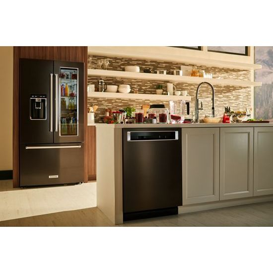 Model: KDPM354GBS | 44 DBA Dishwashers with Clean Water Wash System and PrintShield™ Finish, Pocket Handle