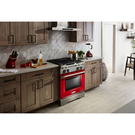 Model: KDRS407VSD | 30'' 4-Burner Dual Fuel Freestanding Range, Commercial-Style