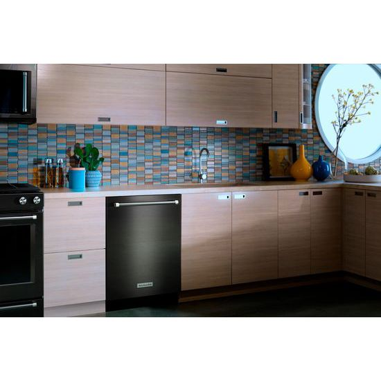 Model: KDTM704EBS | 44 dBA Dishwasher with Dynamic Wash Arms and Bottle Wash