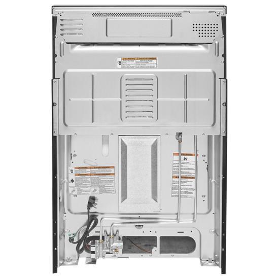 Model: KFGG500EBS | 30-Inch 5-Burner Gas Convection Range