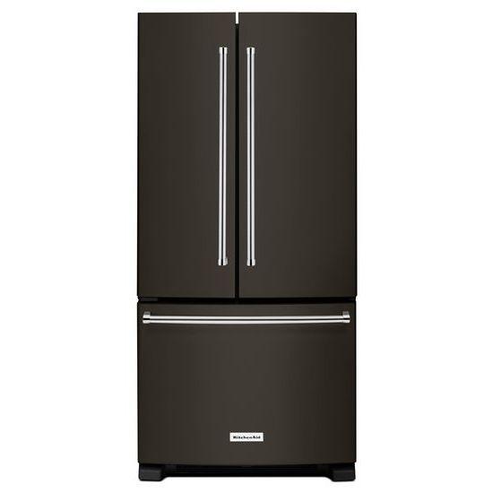 Model: KRFF302EBS | 22 Cu. Ft. 33-Inch Width Standard Depth French Door Refrigerator with Interior Dispense