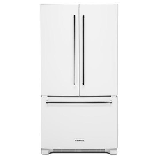 Model: KRFF305EWH | 25 Cu. Ft. 36-Width Standard Depth French Door Refrigerator with Interior Dispense