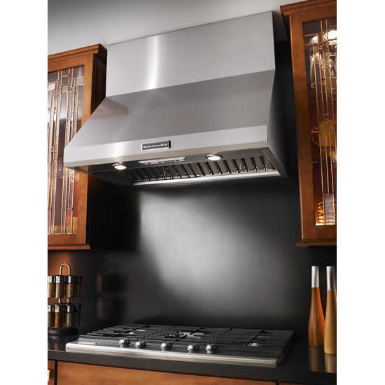 Model: KXW8736YSS | 36'' Wall-Mount 600-1200 CFM Canopy Hood, Commercial-Style