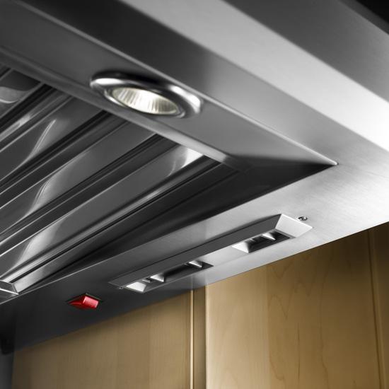 Model: KXW9736YSS   36'' Wall-Mount 600-1200 CFM Canopy Hood, Commercial-Style