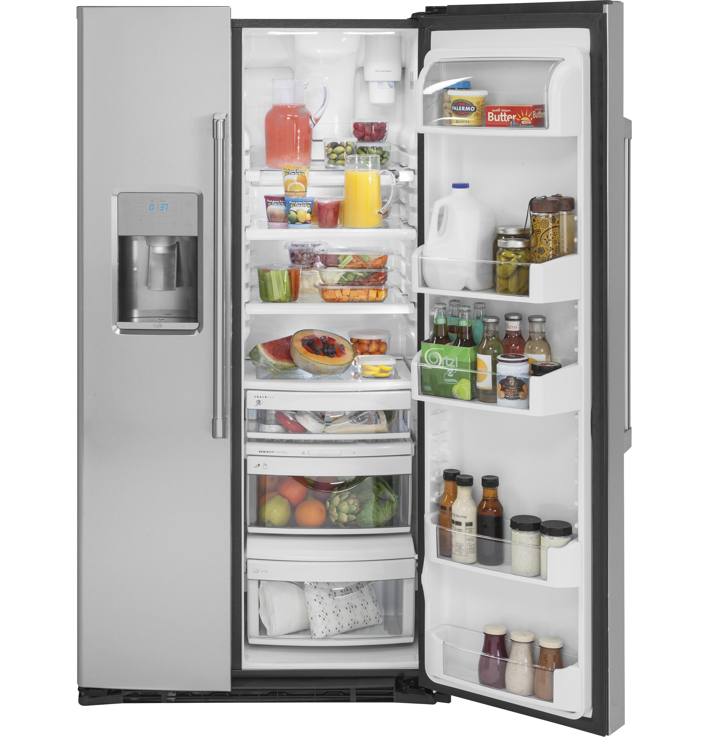 Model: CZS22MSKSS | GE Café™ Series  21.9 Cu. Ft. Counter-Depth Side-By-Side Refrigerator