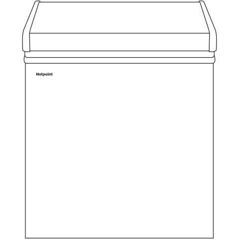 Model: HCM5SMWW   Hotpoint® 5.1 Cu. Ft. Manual Defrost Chest Freezer