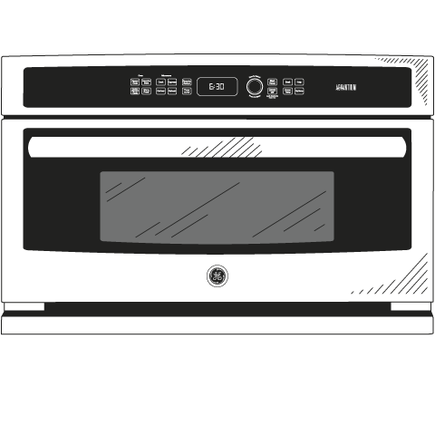 Model: CSB9120SJSS | GE Cafe™ Series 30 in. Single Wall Oven with Advantium® Technology