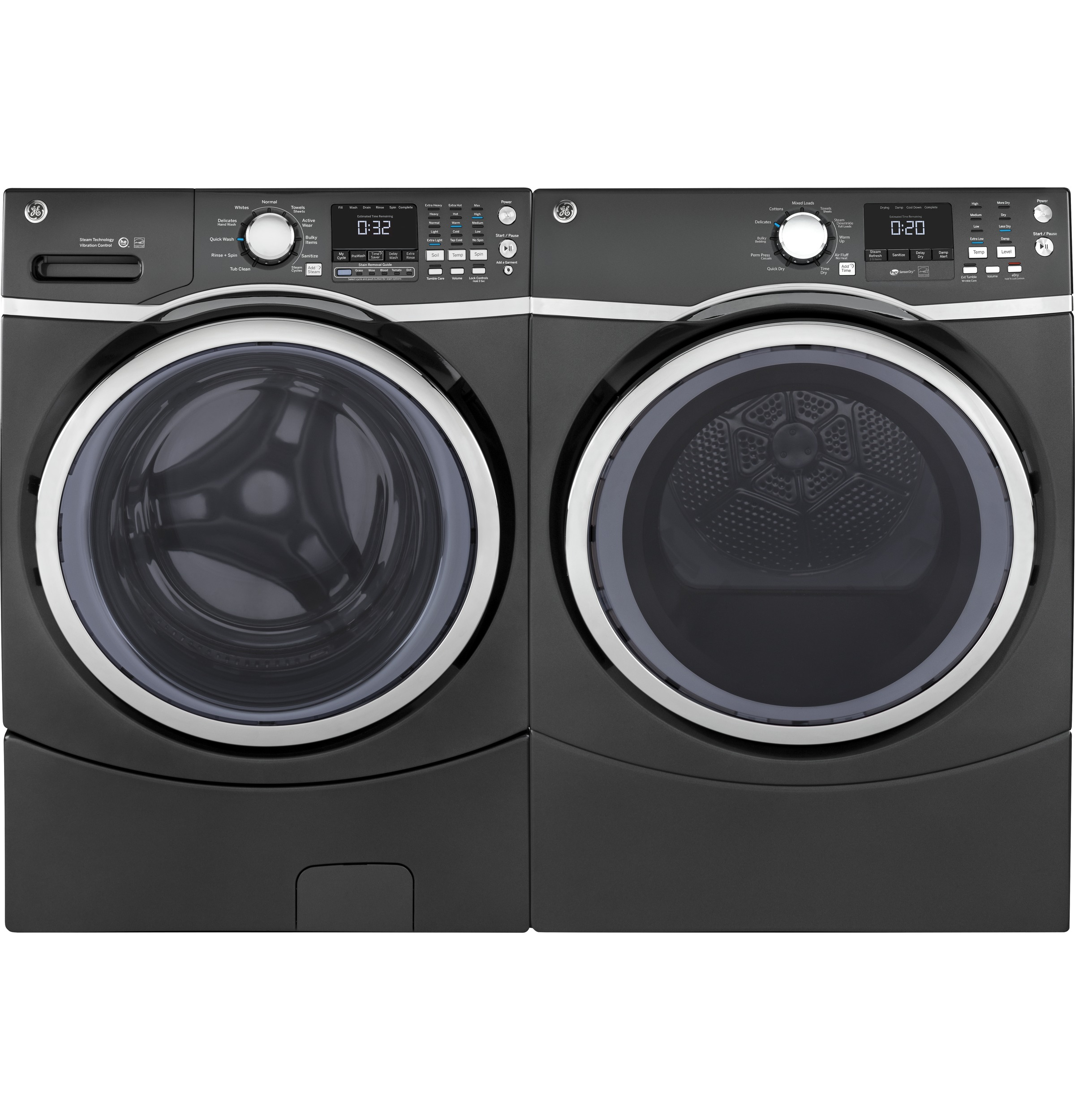 Model: GFW450SPMDG   GE® 4.5 cu. ft. Capacity Front Load ENERGY STAR® Washer with Steam