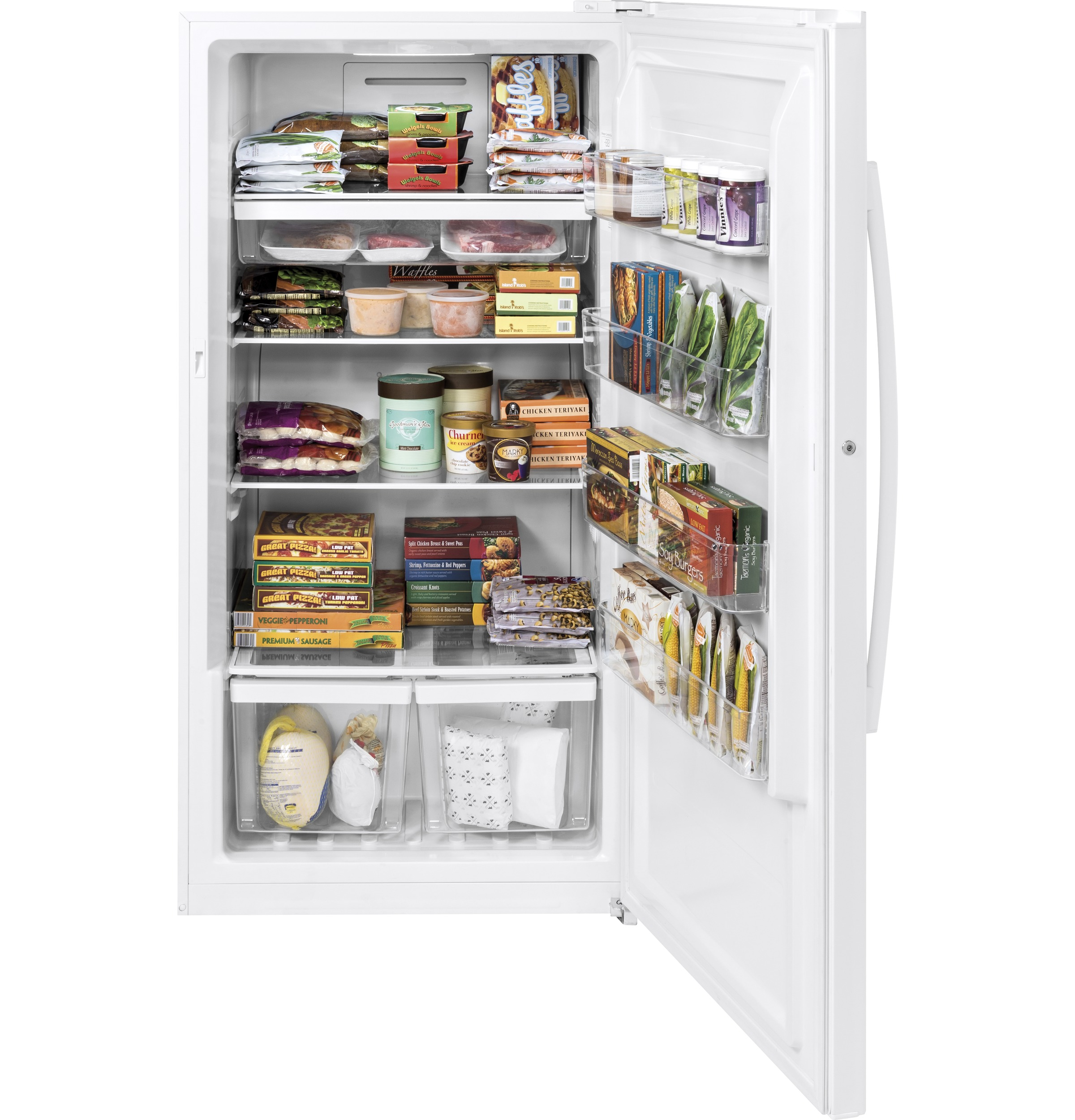 Model: FUF17DLRWW | GE® 17.3 Cu. Ft. Frost-Free Upright Freezer