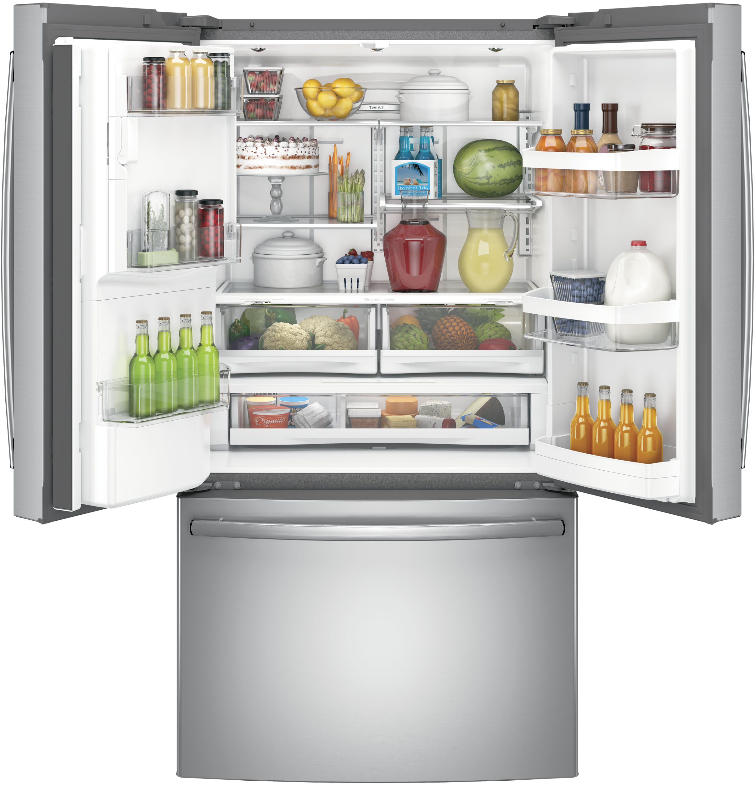 Model: GFE28HSKSS | GE® ENERGY STAR® 27.8 Cu. Ft. French-Door Refrigerator