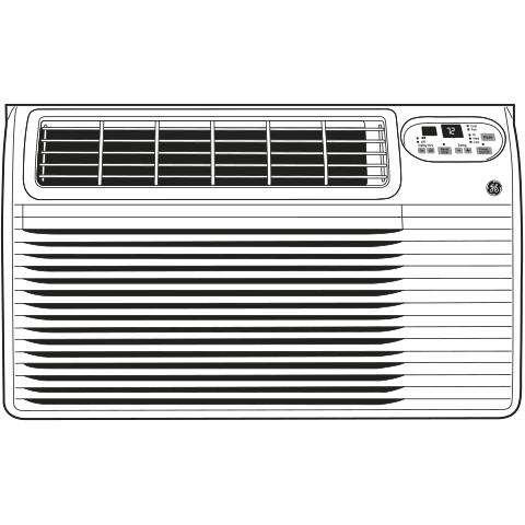 Model: AJCQ12DCG | GE® 230/208 Volt Built-In Cool-Only Room Air Conditioner