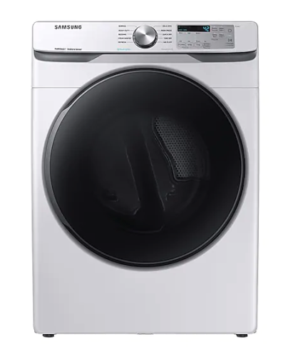 Samsung DV6100 7.5 cu. ft. Electric Dryer with Steam Sanitize+ in White