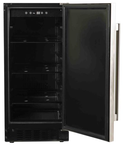 Model: A115R-S   Azure  Undercounter Refrigerator with solid stainless door