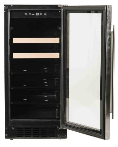 Model: A115BEV-S | Azure  Undercounter Beverage Center with glass door and stainless trim