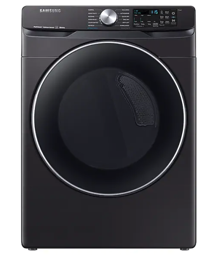 Samsung DV6300 7.5 cu. ft. Smart Electric Dryer with Steam Sanitize+ in Black Stainless Steel