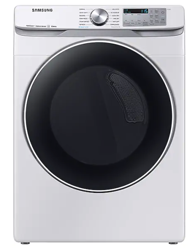 Samsung DV6300 7.5 cu. ft. Smart Electric Dryer with Steam Sanitize+ in White