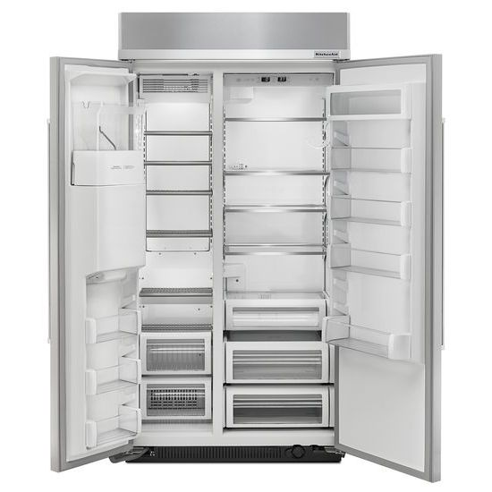 Model: KBSD602ESS | 25.0 cu. ft 42-Inch Width Built-In Side by Side Refrigerator with PrintShield™ Finish