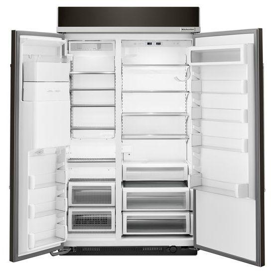 Model: KBSD608EBS | 29.5 cu. ft 48-Inch Width Built-In Side by Side Refrigerator with PrintShield™ Finish