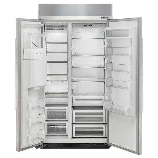Model: KBSD612ESS | 25.0 cu. ft 42-Inch Width Built-In Side by Side Refrigerator