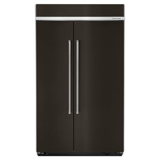 Model: KBSN608EBS | 30.0 cu. ft 48-Inch Width Built-In Side by Side Refrigerator with PrintShield™ Finish