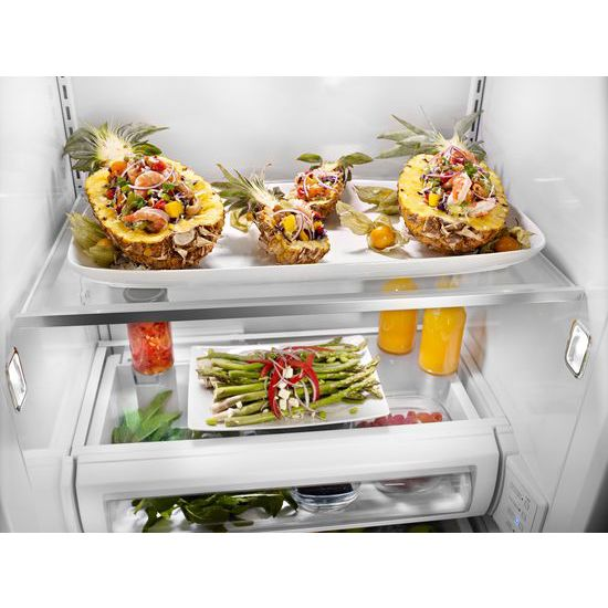Model: KBSN608ESS | 30.0 cu. ft 48-Inch Width Built-In Side by Side Refrigerator with PrintShield™ Finish