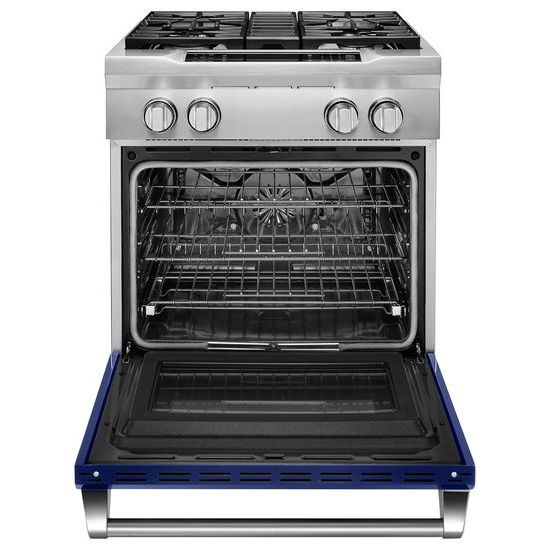 Model: KDRS407VBU | 30'' 4-Burner Dual Fuel Freestanding Range, Commercial-Style