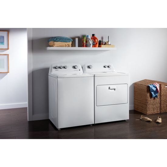 Model: WED4850HW | 7.0 cu. ft. Top Load Electric Dryer with AutoDry™ Drying System