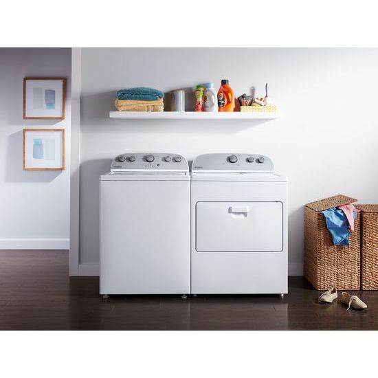Model: WED4950HW | 7.0 cu. ft. Top Load Electric Dryer with AutoDry™ Drying System