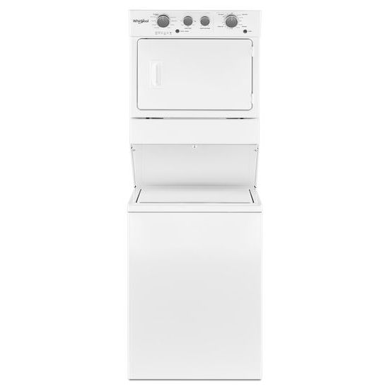 3.5 cu.ft Electric Stacked Laundry Center 9 Wash cycles and AutoDry™